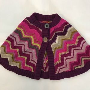 Missoni for Target 4-5T Colorful Shrug Sweater